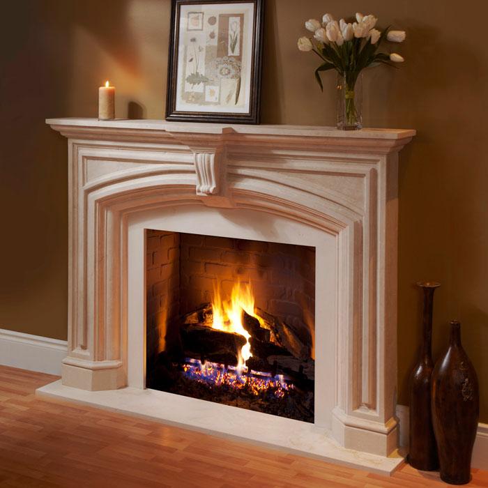 Dracme Elizabeth Fireplace Mantle