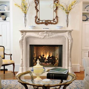 Dracme Louis XV Fireplace Mantle