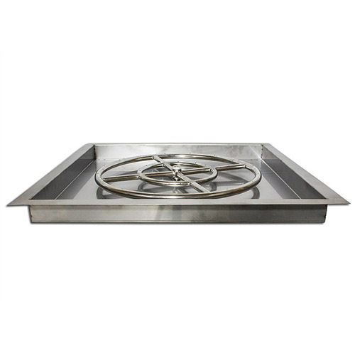 Stainless Steel Square Drop In Fire Pit Pan