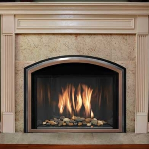 Mendota Gas insert for fireplace and home heating in York PA from local fireplace and stove center.