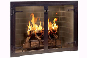 Design Specialties Fireplace Doors - Hammer Edge