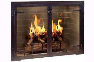 Design Specialties Fireplace Doors - Hammer Edge