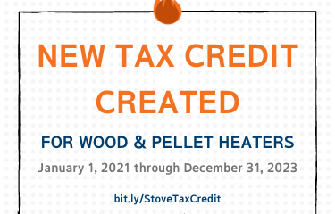 26% Wood and Pellet Heater Investment Tax Credit