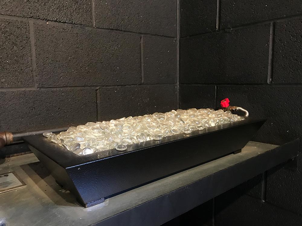 Stainless Steel Oval Burner w/Fireglass